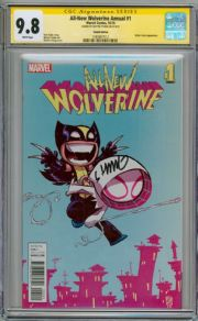 All New Wolverine Annual #1 Baby Variant CGC 9.8 Signature Series Signed Skottie Young Marvel
